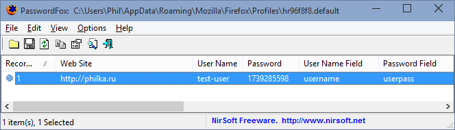 PasswordFox 1.56
