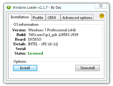 Windows loader 2. 1. 7 by daz » happy-hack. Ru|hacktool.